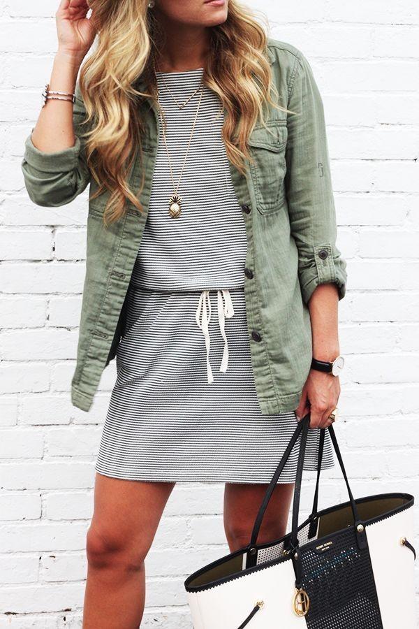 vestido rayado
