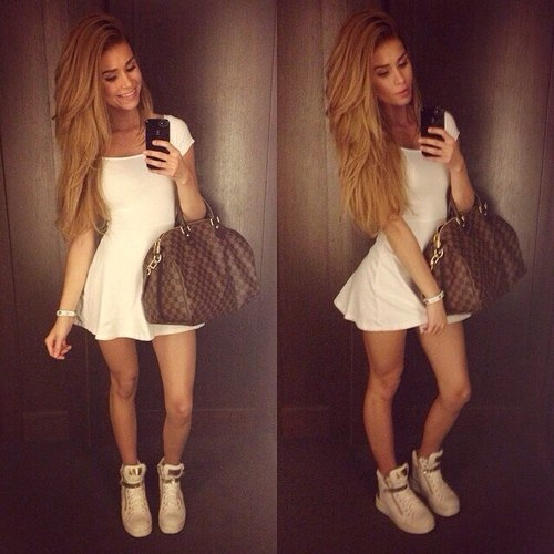vestido tenis