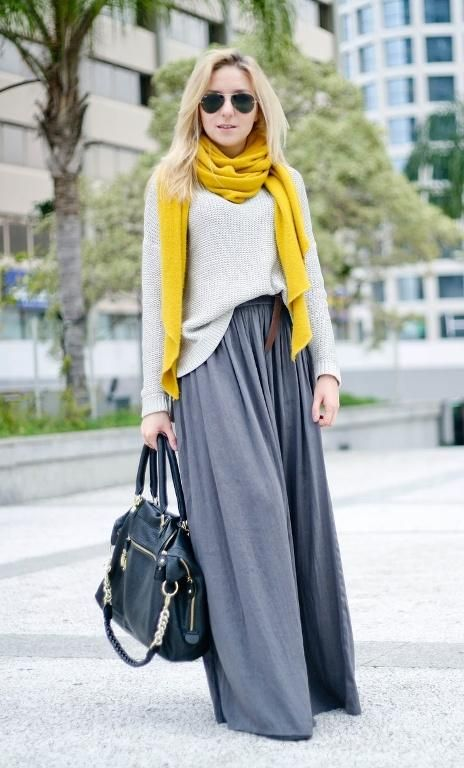 winter maxi falda