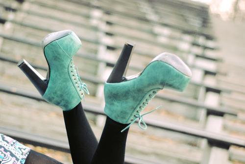 zapatos azul plataforma