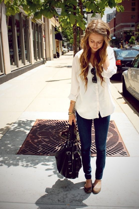 Button-Up Shirts blanca