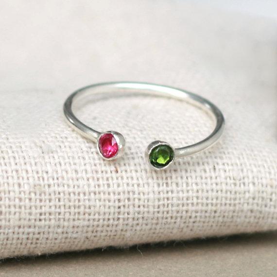 anillo bicolor