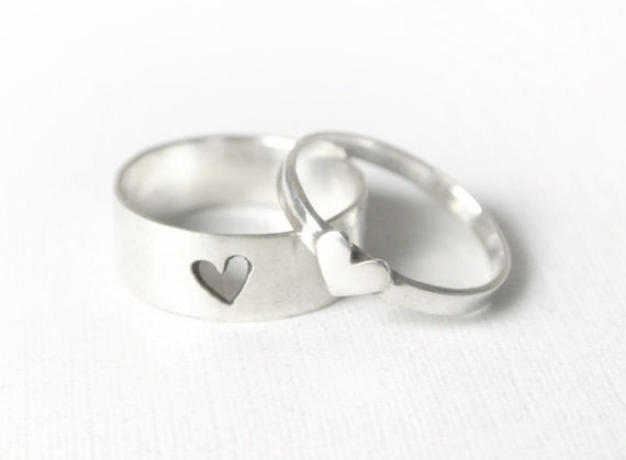 anillos corazon