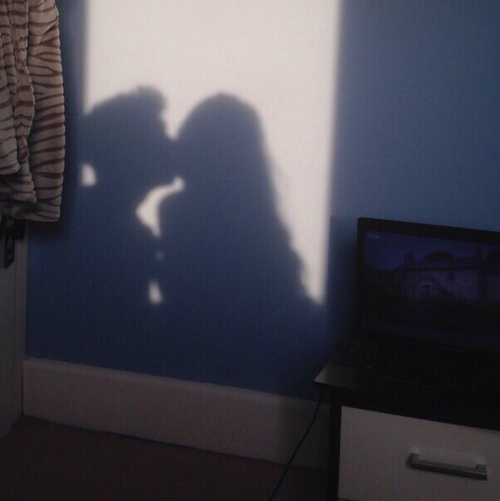 beso lindo sombra