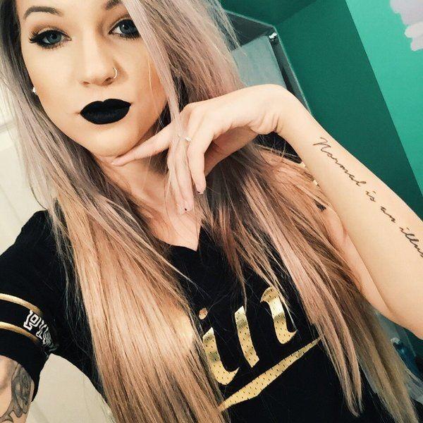 black lipstick selfie