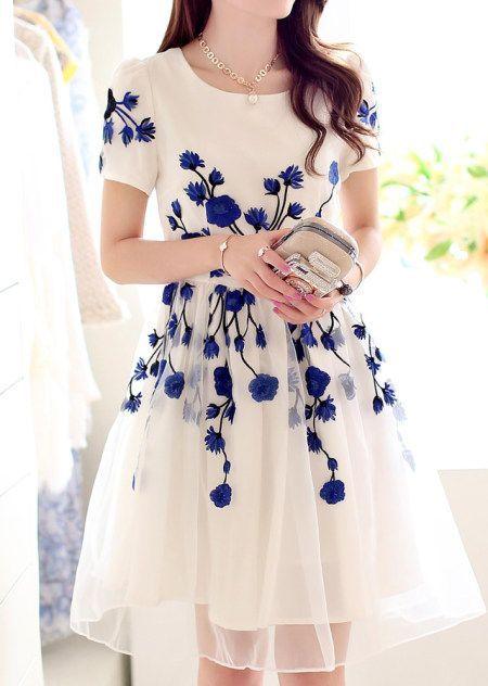 blanco vestido
