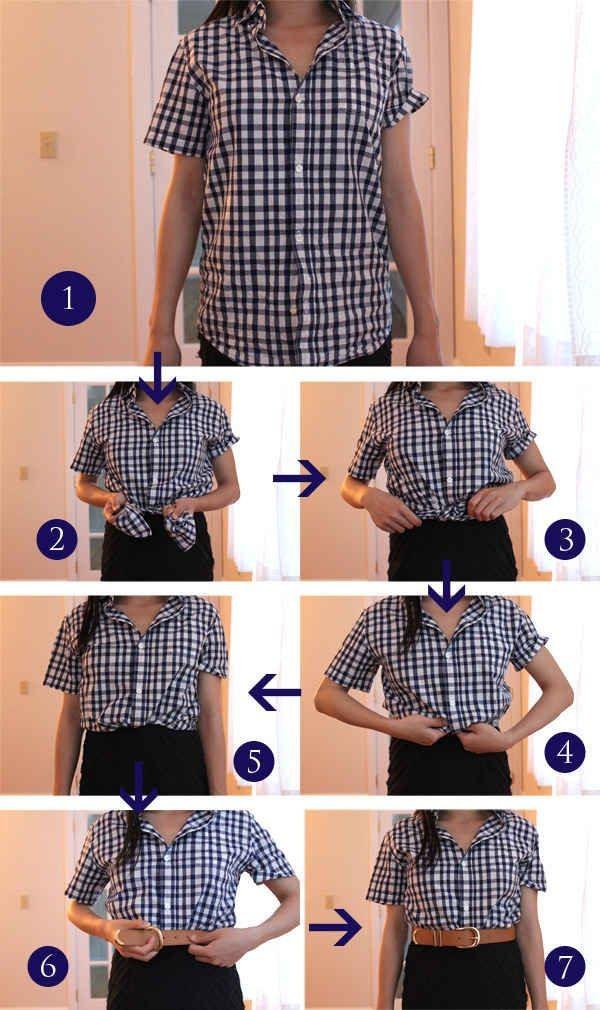 blusa cinturon