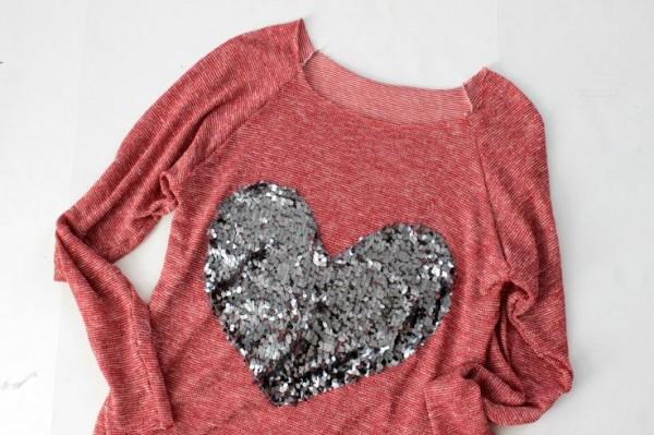 blusa corazon