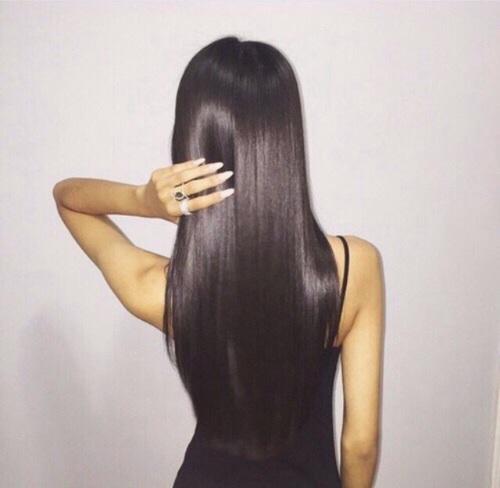 cabello lacio de mujer