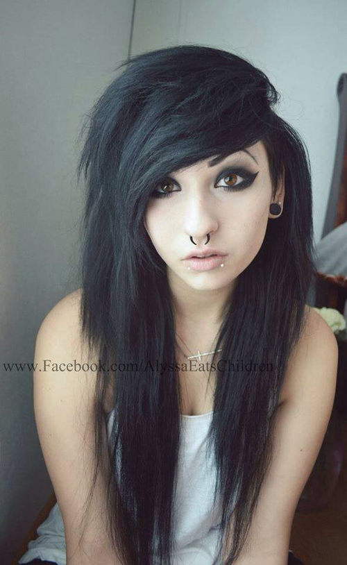 Cortes de cabello emo para mujer