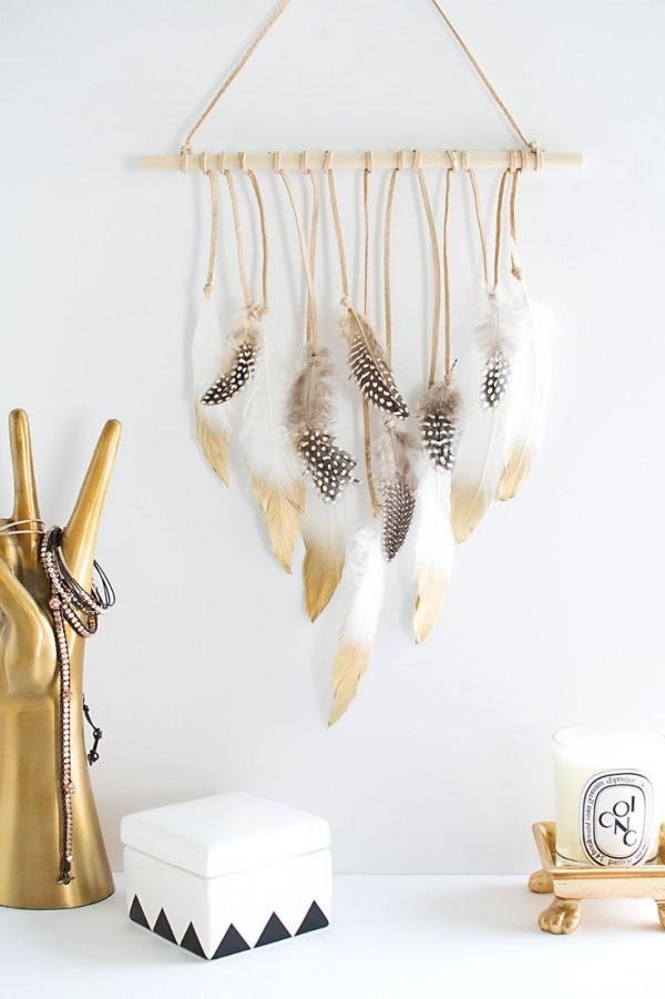 colgante plumas