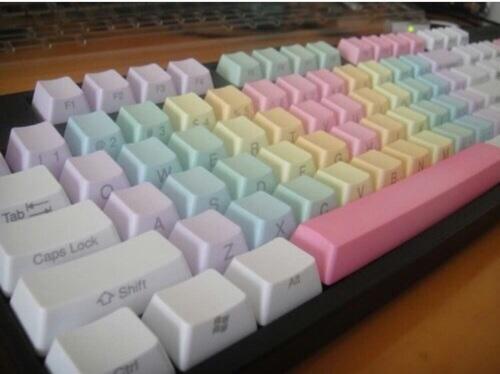 colores pastel teclado