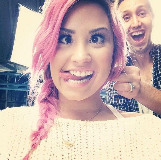 demi pink hair