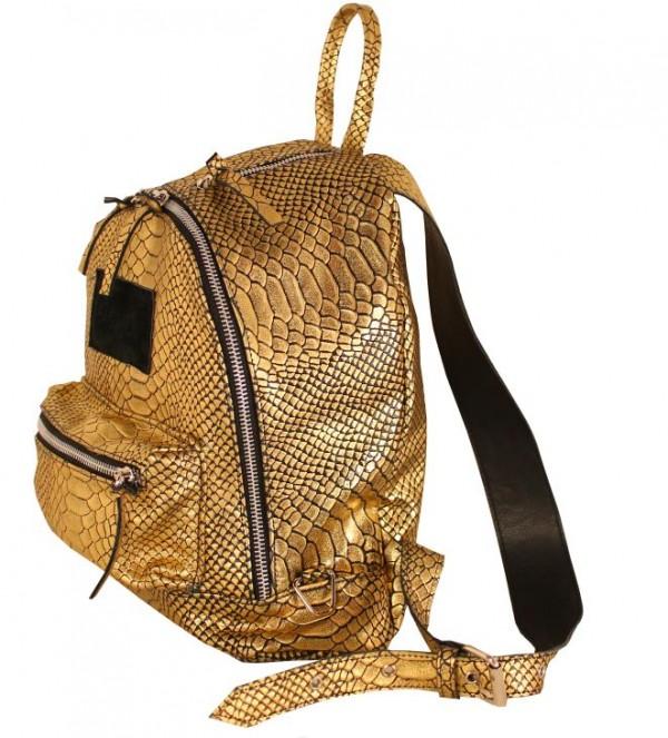 gold bagpack