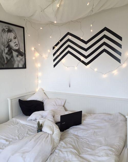 ideas decorar recamara blanco y negro