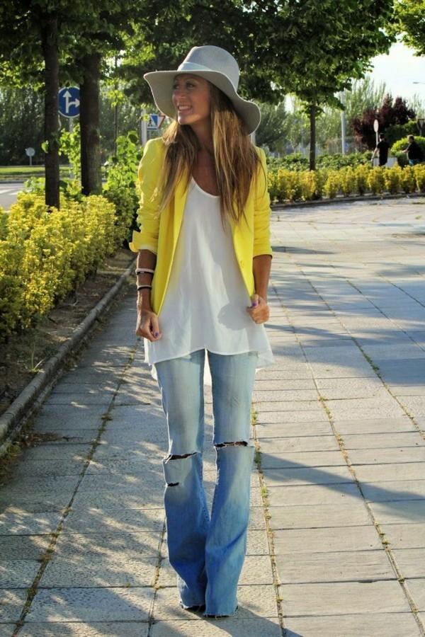 jeans-con blazer