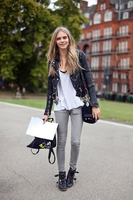 jeans grises combinacion