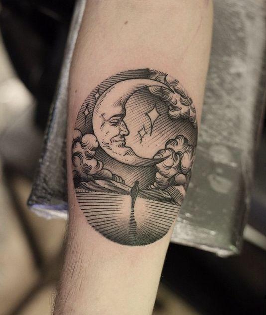 luna tatuaje cute