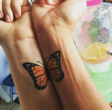 mariposa tattoo mama e hija