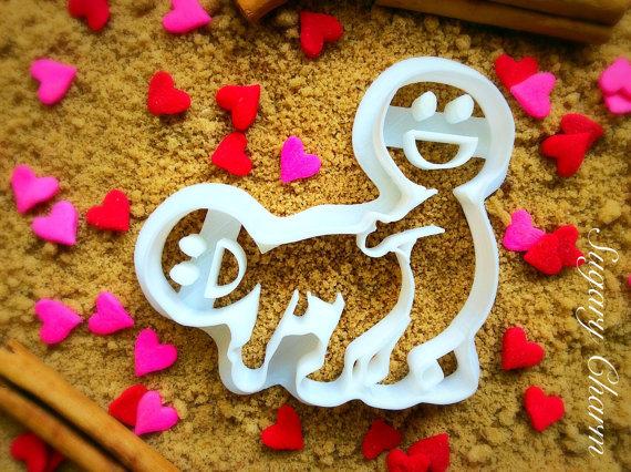 molde galletas enamorados