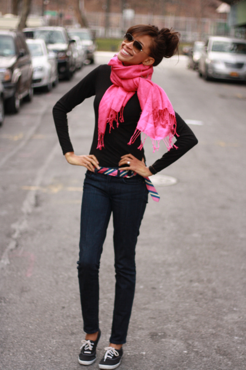 negro y rosa outfits