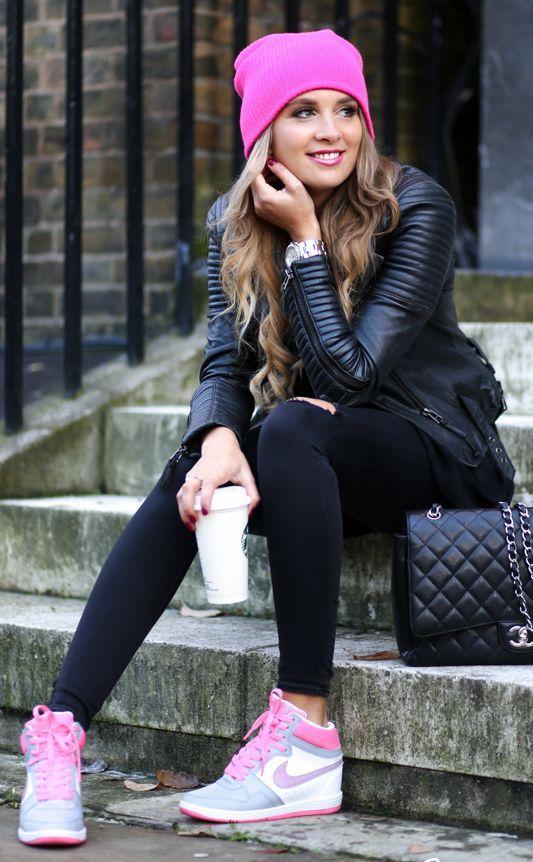 Ideas para combinar un outfit negro y rosa
