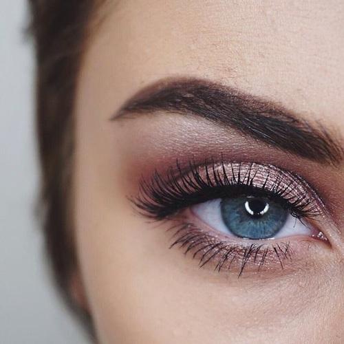 ojos rosa cute