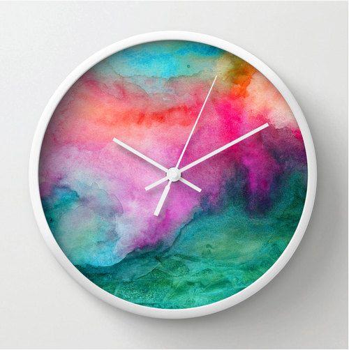 reloj acuarela
