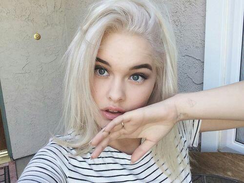 rubia cabello de mujer