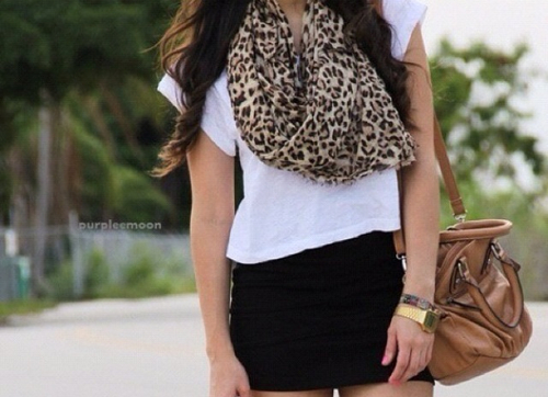 scarf animal print
