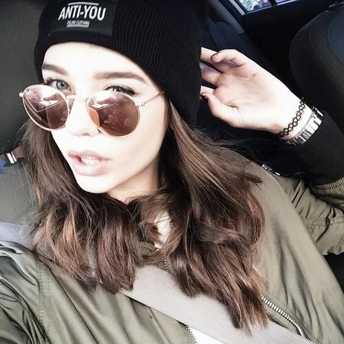 selfie gorrito y lentes