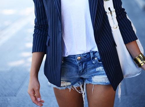 short y blazer