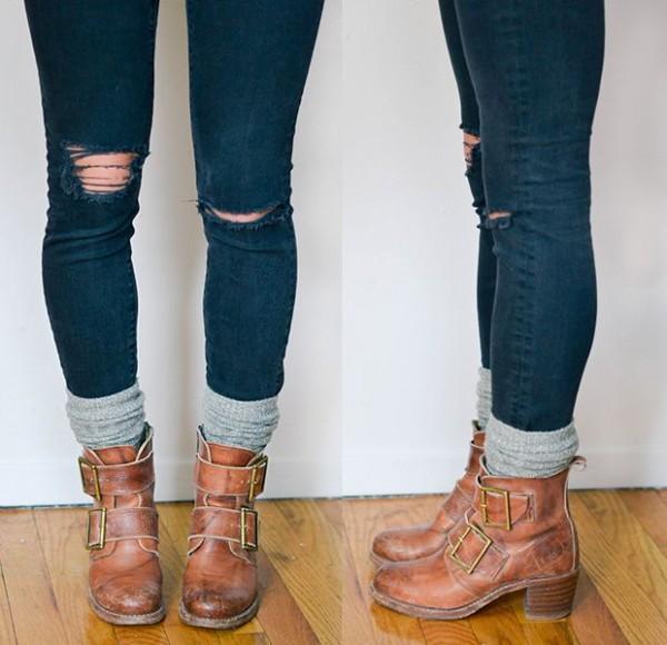skinny jeans calentadores