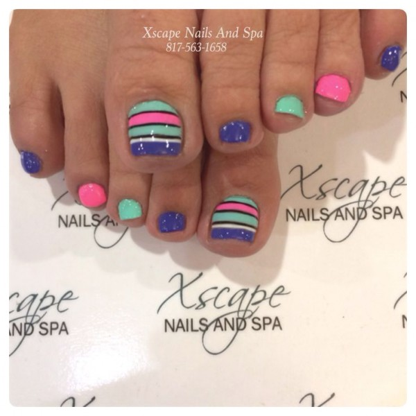 15 dise os cute para las u as de los dedos de tus pies for Acrylic toe nails salon
