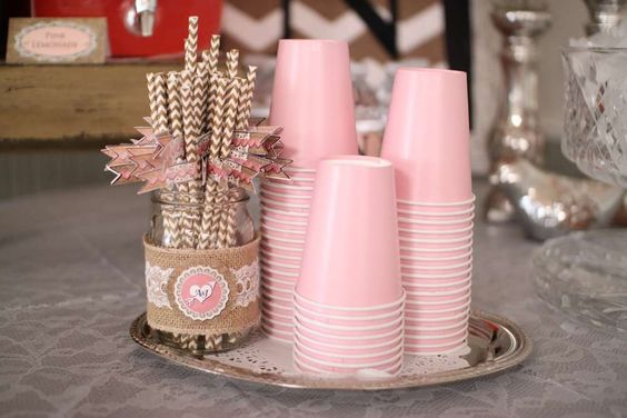 vasos rosas