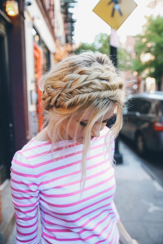 Braided Crown Updo Twist with Flair