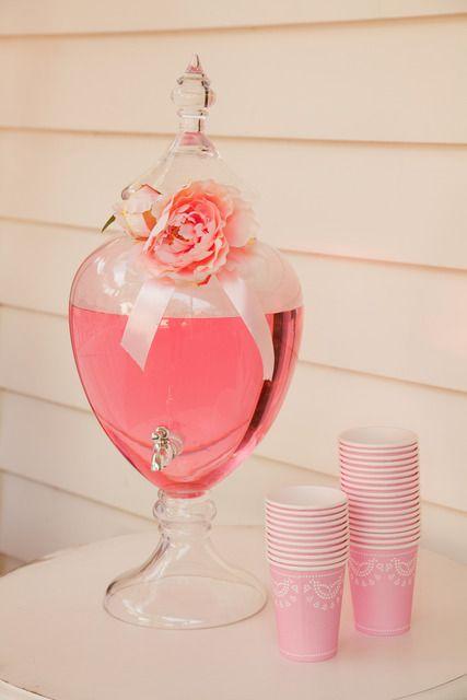 agua rosa de sabor