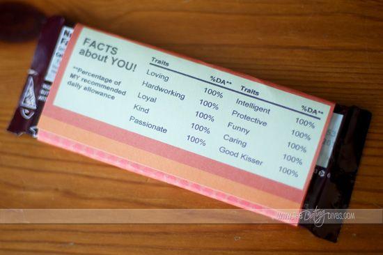 barra chocolate san valentin
