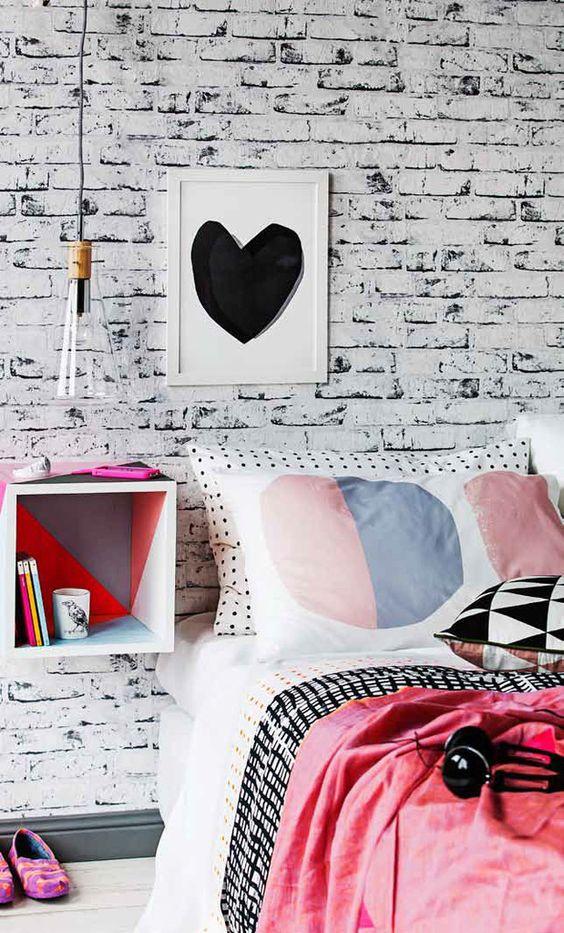 blanco y negro pared