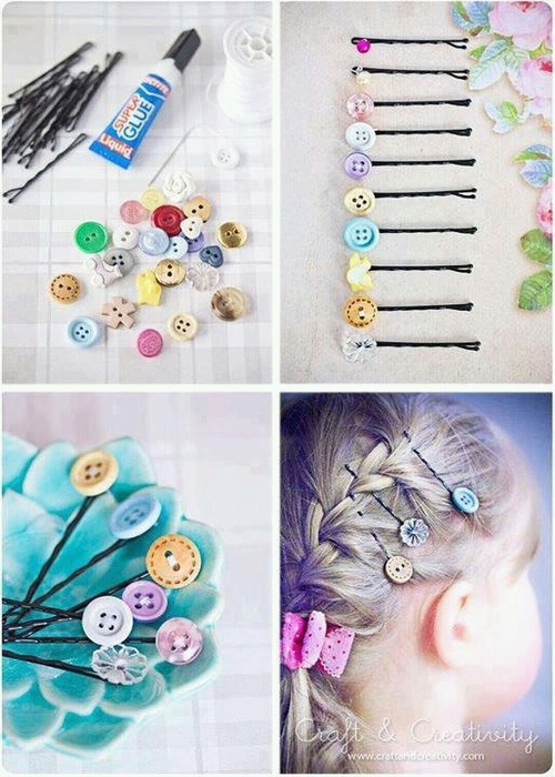 bobby pin button