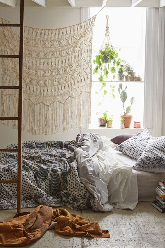 Ideas para decorar tu cuarto estilo boho for Decoracion piso hippie