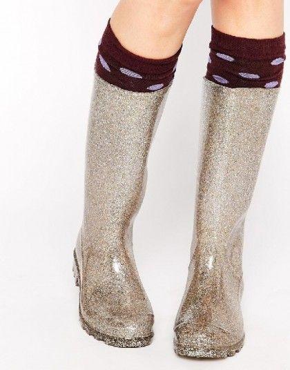 botas lluvia glitter