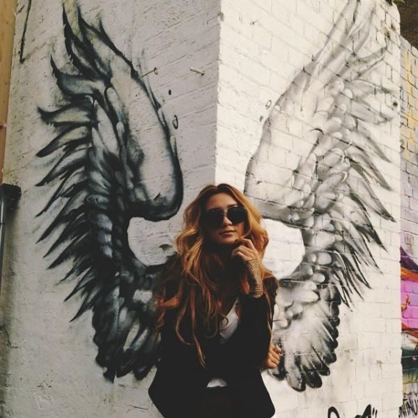 brick wall angel