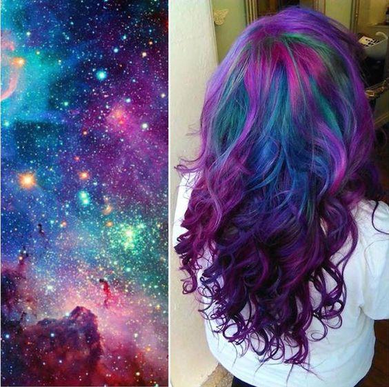 cabelo galaxia