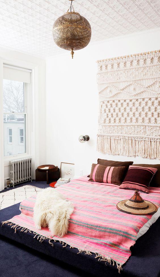 ideas de decoración de la sala de estar boho Ideas Para Decorar Tu Cuarto Estilo Boho