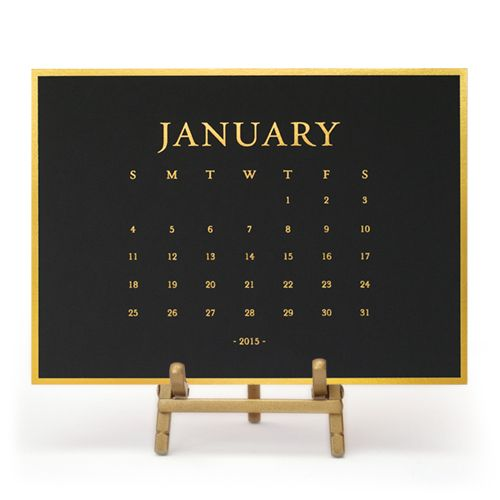 calendario negro
