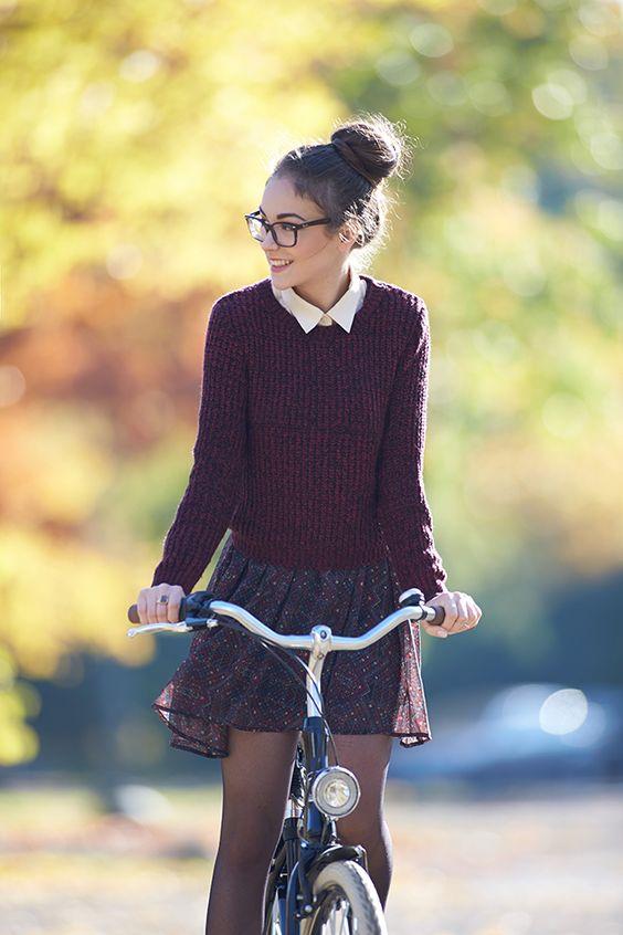 chica nerd cute