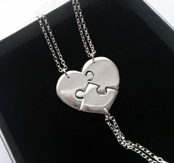 collar corazon rompecabezas