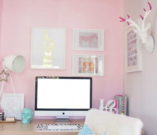 16 ideas para darle un look s per chic a tu escritorio for Ideas decoracion escritorio