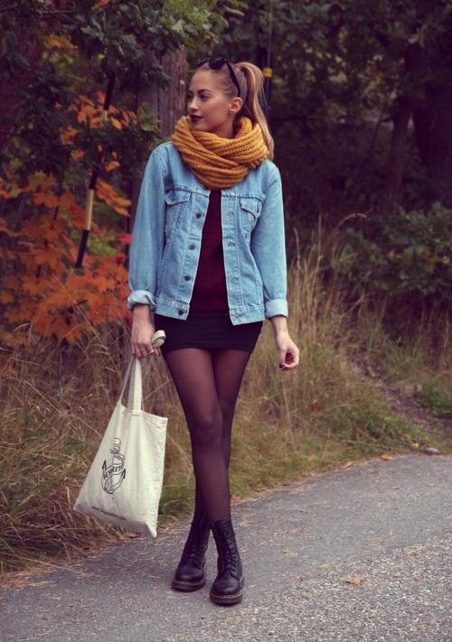 6cf78308498 dr martens botas negras falda. Un look maduro para mujeres ...